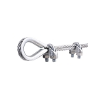 Sterling 3 Wire Rope Clamps & 1 Thimble 3mm BZP