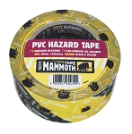 Everbuild  PVC HAZARD TAPE 50MM X 33MTR BLACK/YELLOW