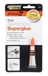 Everbuild  STICK 2 ALL PURPOSE SUPERGLUE TUBE 3GM CLEAR