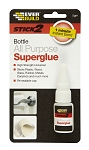 Everbuild  STICK 2 ALL PURPOSE SUPERGLUE BOTTLE 5GM CLEAR