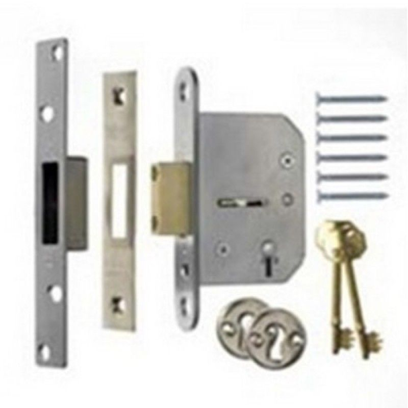 ERA 301-62 Viscount Mortice Deadlock 5 Lever 76mm Chrome Plated