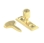 Securit Window stay lock Brassed            - S1040