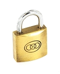Securit Tricircle Brass padlock 50mm - S1176