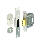 Securit 5 lever dead lock BS3621 St.Steel 63mm - S1784