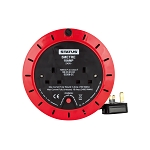 Status 5 Mtr 13 amp 4 Socket Outlet with Thermal Cut Out Red  Extention Reel 1 pk
