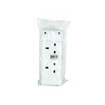 Status 2 way Re-wireable Socket Block White