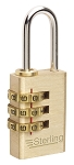 Sterling 20mm Brass Combination Padlock - 3 Dial