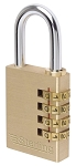 Sterling 40mm Brass Combination Padlock - 4 Dial