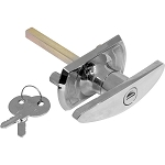 Sterling Garage Door T Handle - Diamond Clam