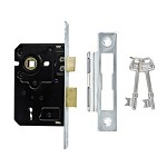 TSS 3 Lever Mortice Sashlock 63mm Satin